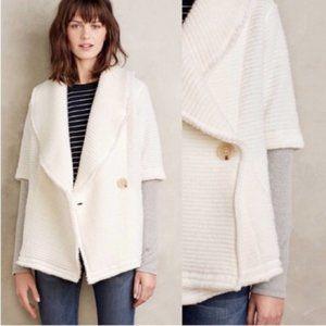 Dolan virgin wool knit white cardigan